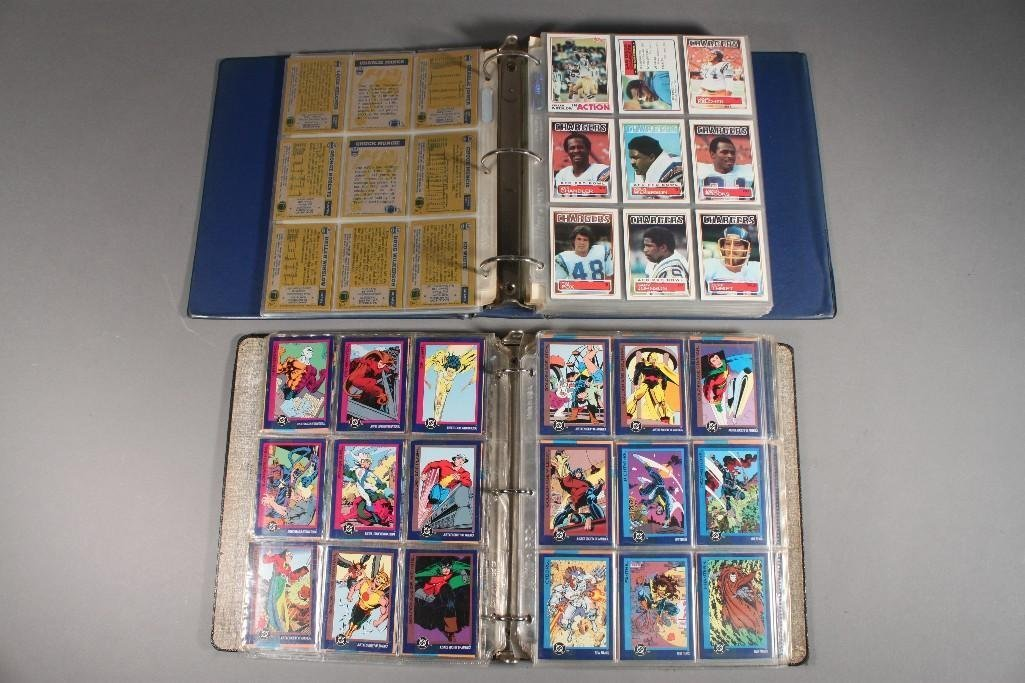Football and Comic Book Collectors Cards
