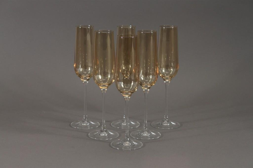Long Stem Champagne Glasses (6)