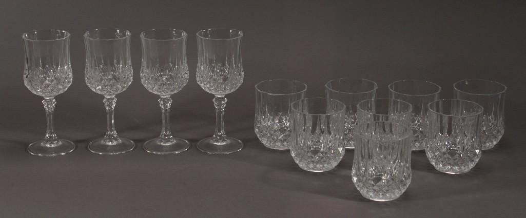 Clear Crystal Beverage Glasses (12)