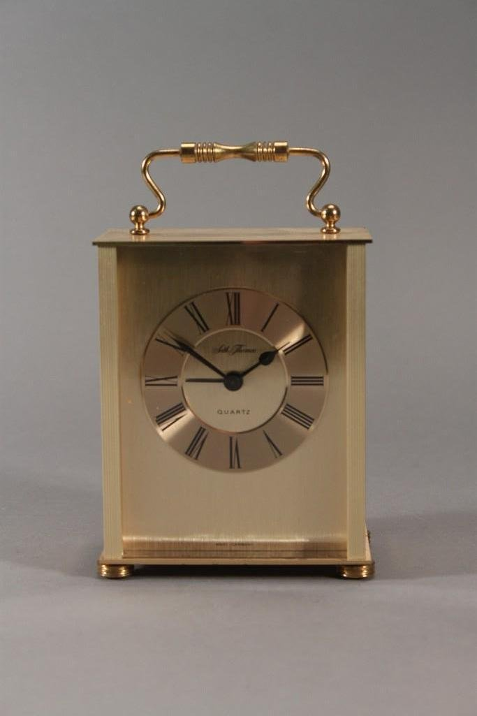 Seth Thomas Quartz gold tone clock