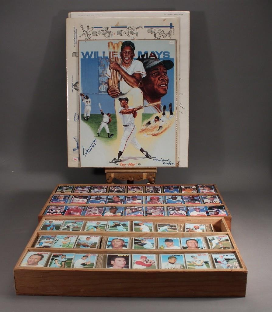 Collector Cards and Signed Willie Mays Poster