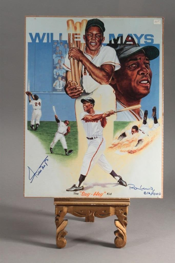 Collector Cards and Signed Willie Mays Poster - 6