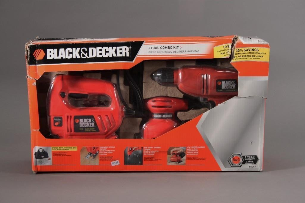 Black and Decker three Tool Combo Kit