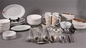 Ceramic Dishware and Stainless Steel Utensils