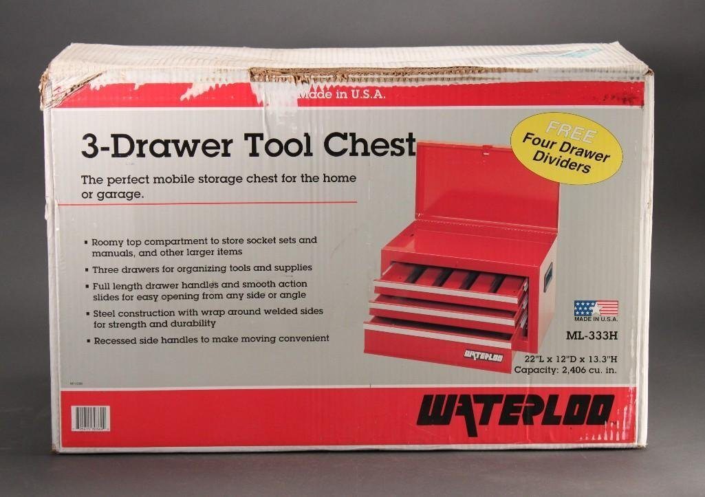 Waterloo 3-Drawer Tool Chest