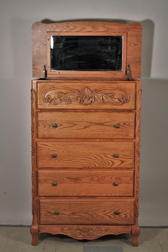 Summit Furniture 5 Drawer Tall Boy Dresser - 3