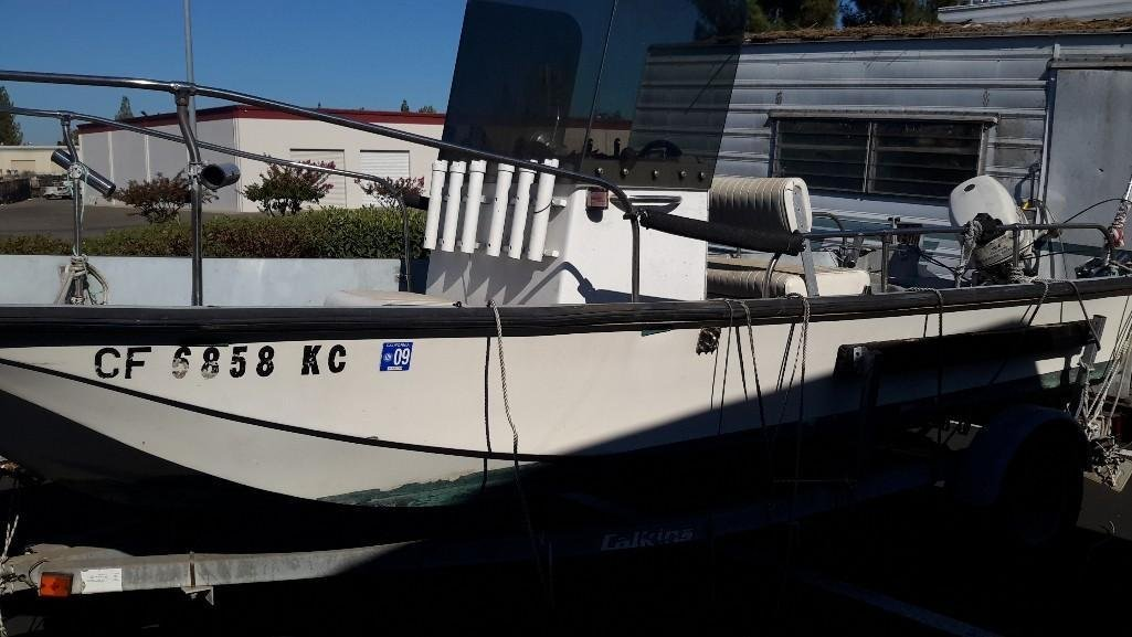 Boston Whaler 16 Foot Boat with Trailer