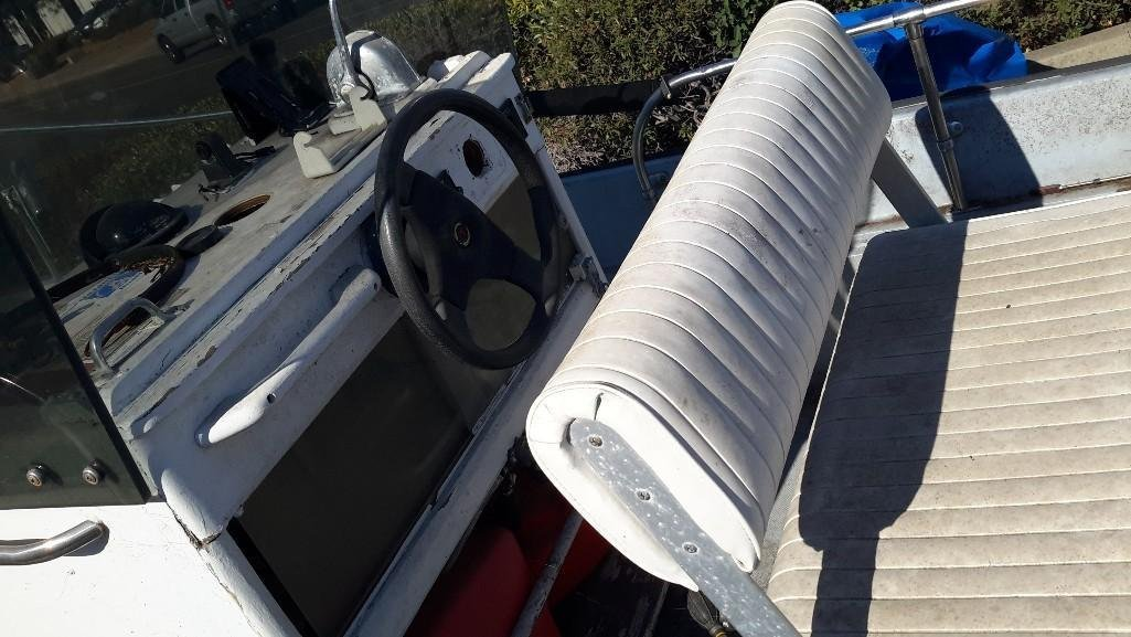 Boston Whaler 16 Foot Boat with Trailer - 2