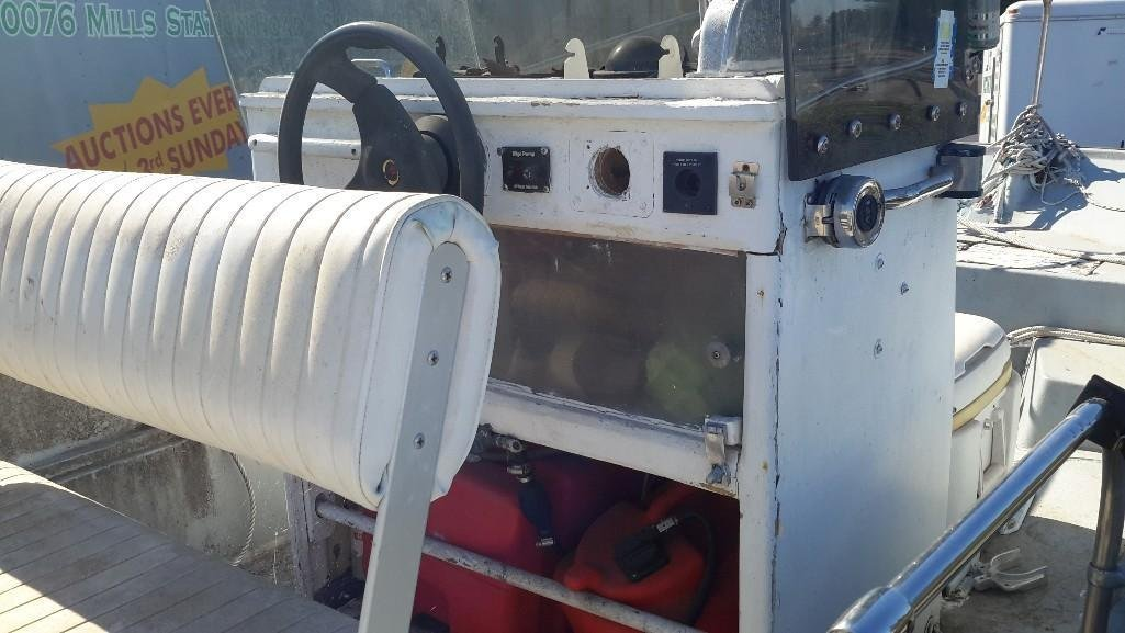 Boston Whaler 16 Foot Boat with Trailer - 5