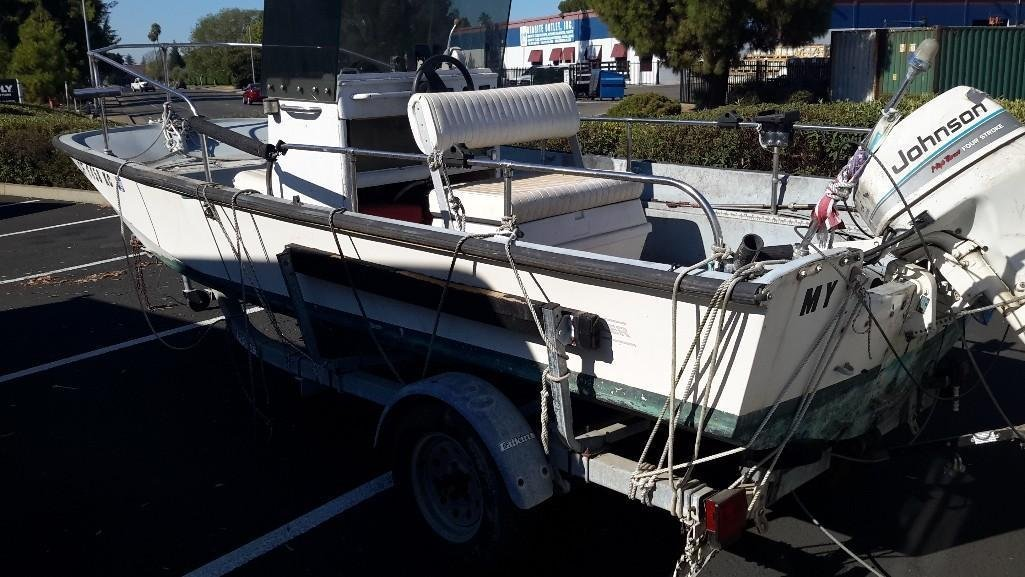 Boston Whaler 16 Foot Boat with Trailer - 9