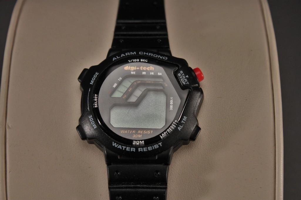 Banner Lighter and Digi-Tech Wrist Watch - 4
