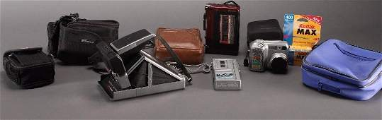 Vintage Polaroid SX70 Land Camera and Accessories
