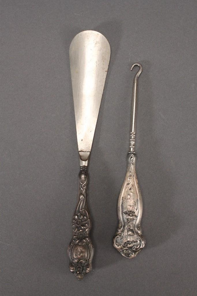 Sterling Silver Shoe Horn and Lace Hook (2)