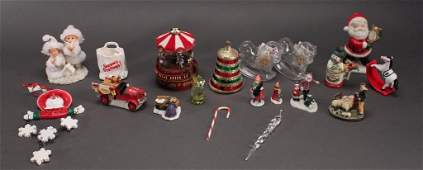 Christmas tree ornaments and figurines