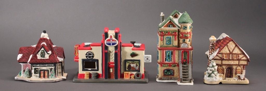 Christmas Village Buildings (4)
