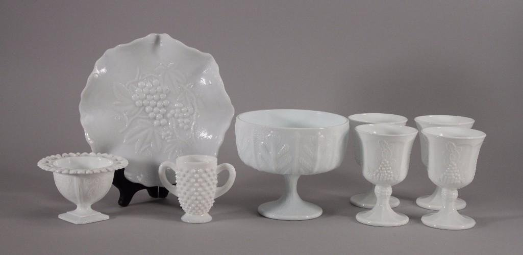 Vintage Milk Glass Collection (8)