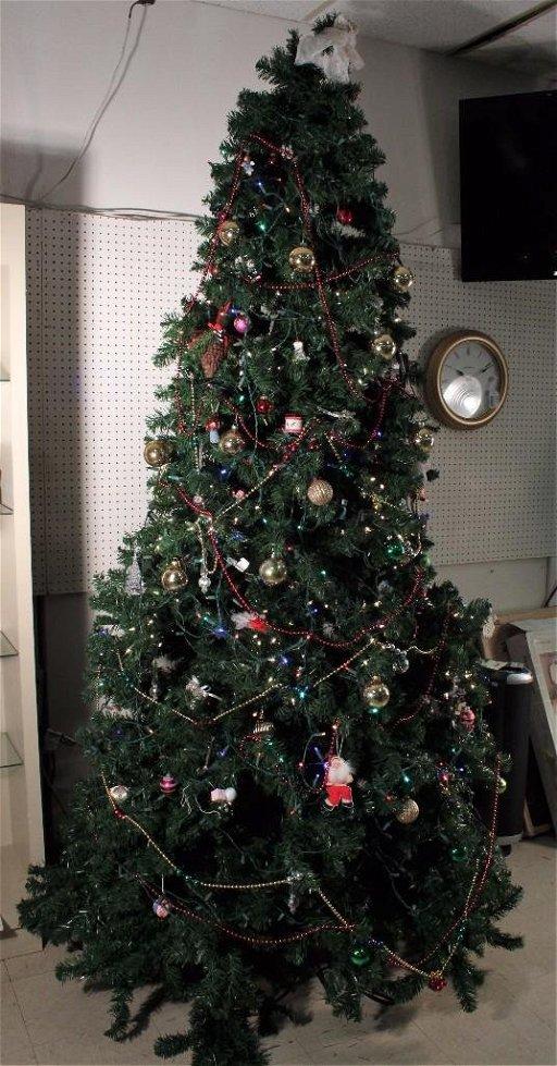 Vintage Artificial Christmas Trees.9ft Pre Lit Vienna Pine Artificial Christmas Tree