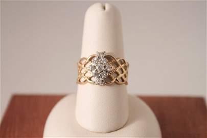 14 K Diamond Ring