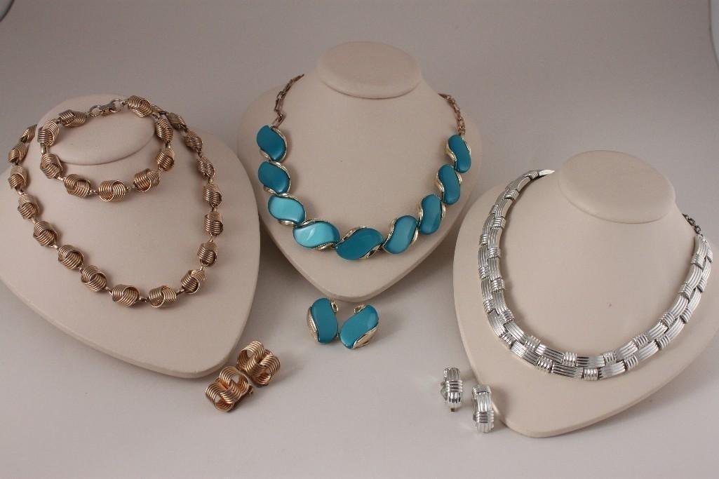 Vintage Lisner & Coro Jewelry Sets (3)