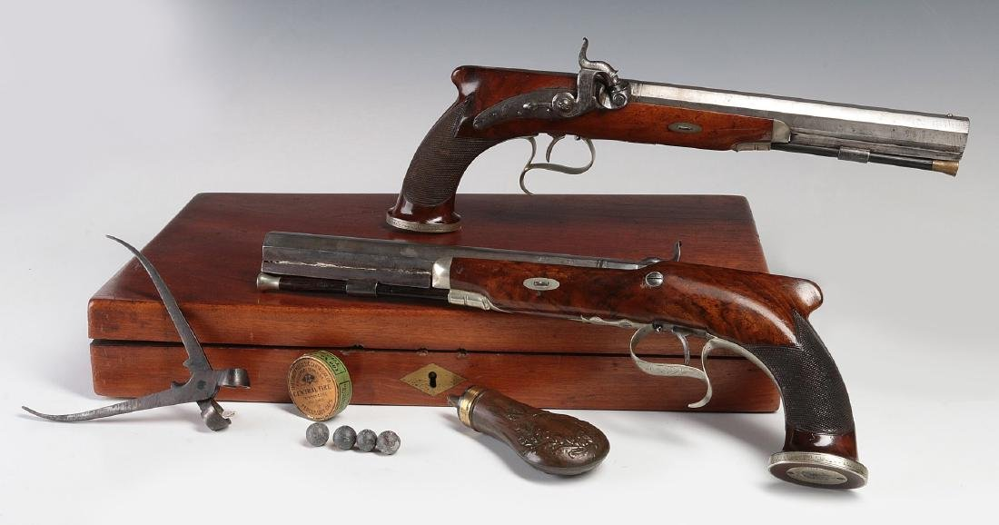 EXCEPTIONAL EARLY 19THC. AMERICAN DUELING PISTOLS