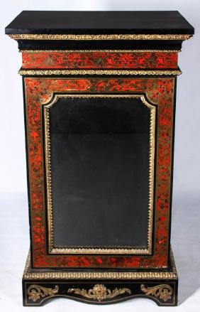 A 19TH C. FRENCH BOULLE STYLE MARQUETRY CABINET