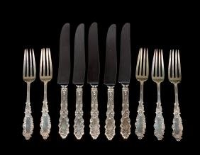 TEN PIECES OF GORHAM LUXEMBOURG STERLING SILVER