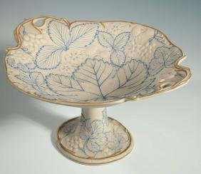 AN EARLY BOLTED GRAPE VINE DECORATED PARIAN TAZZA