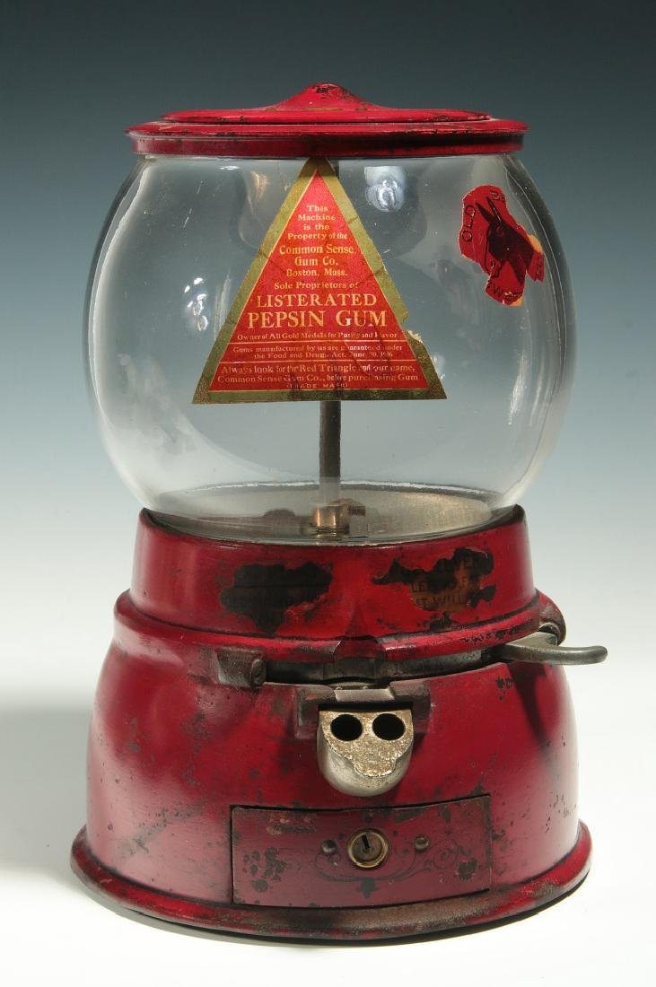 A VERY RARE AND EXCELLENT C. 1915 GUMBALL MACHINE