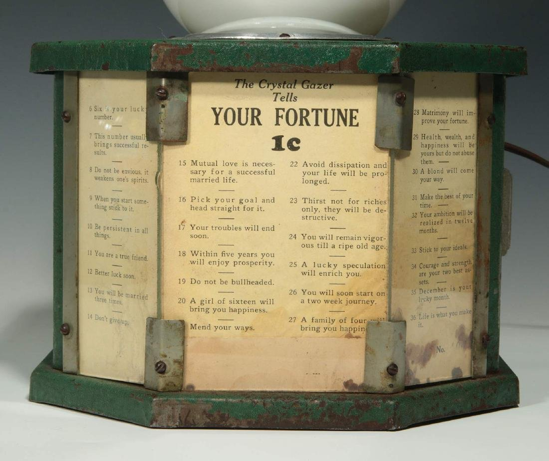 CRYSTAL GAZER FORTUNE TELLING COIN OP DICE GAME - 3