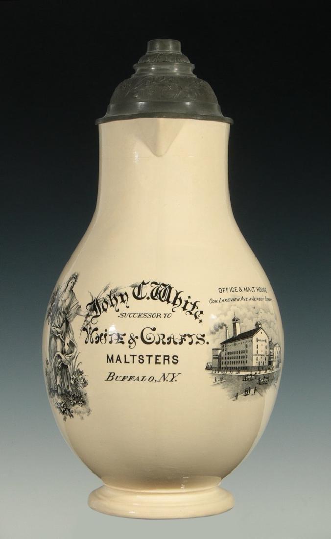 JOHN WHITE MALTSTERS BREWERY PRE-PROHIBITION STEIN