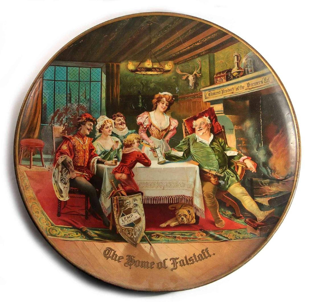 A LEMP BEER 'HOME OF FALSTAFF' ADVERTISING CHARGER