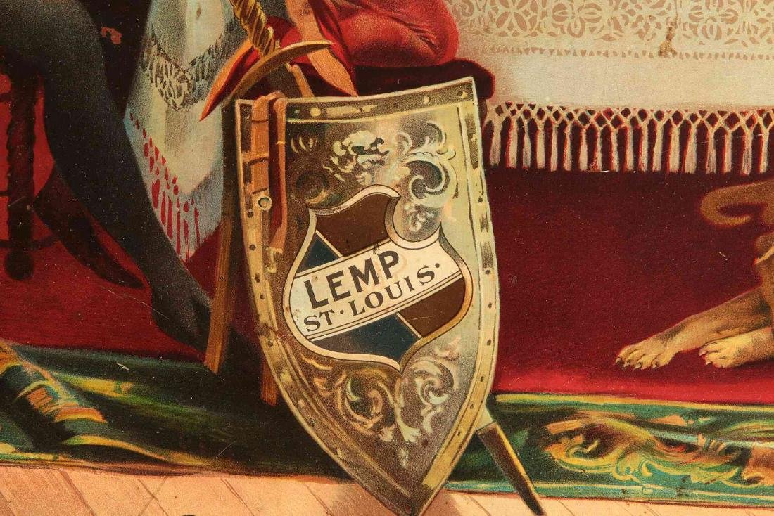A LEMP BEER 'HOME OF FALSTAFF' ADVERTISING CHARGER - 8
