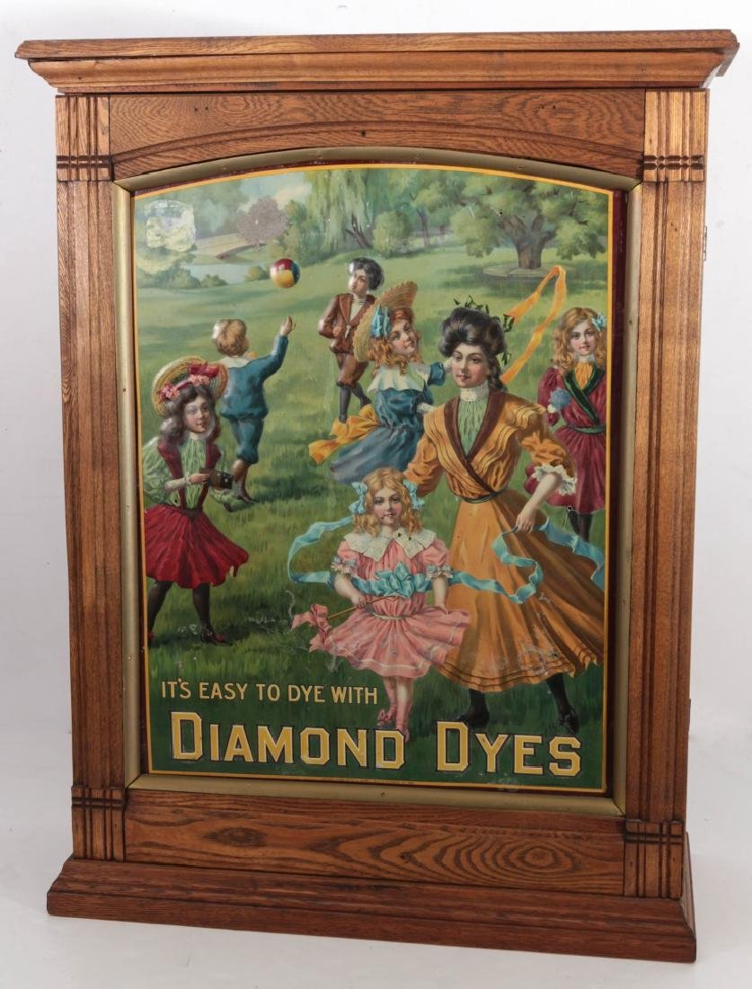 A CIRCA 1900 DIAMOND DYES 'GOVERNESS' CABNET