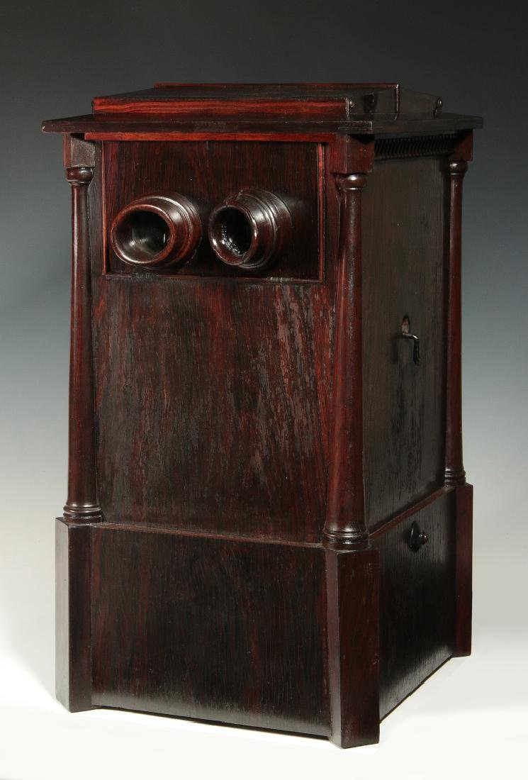 A CIRCA 1875 ROSEWOOD TABLE TOP STEREOVIEWER