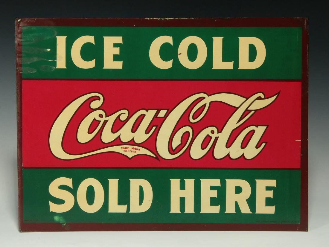 A RARE CIRCA 1927 COCA COLA FLANGE SIGN