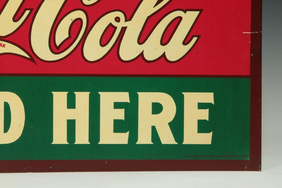 A RARE CIRCA 1927 COCA COLA FLANGE SIGN - 5