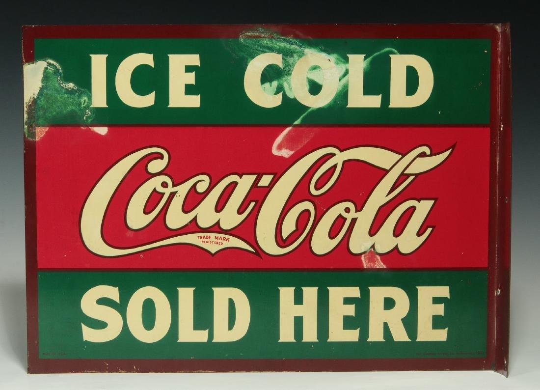 A RARE CIRCA 1927 COCA COLA FLANGE SIGN - 7