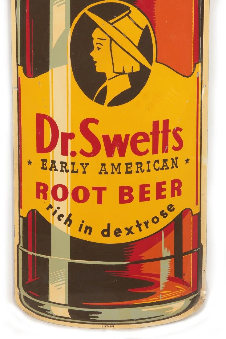 A GOOD DR. SWETTS ROOT BEER DIE CUT BOTTLE SIGN - 4