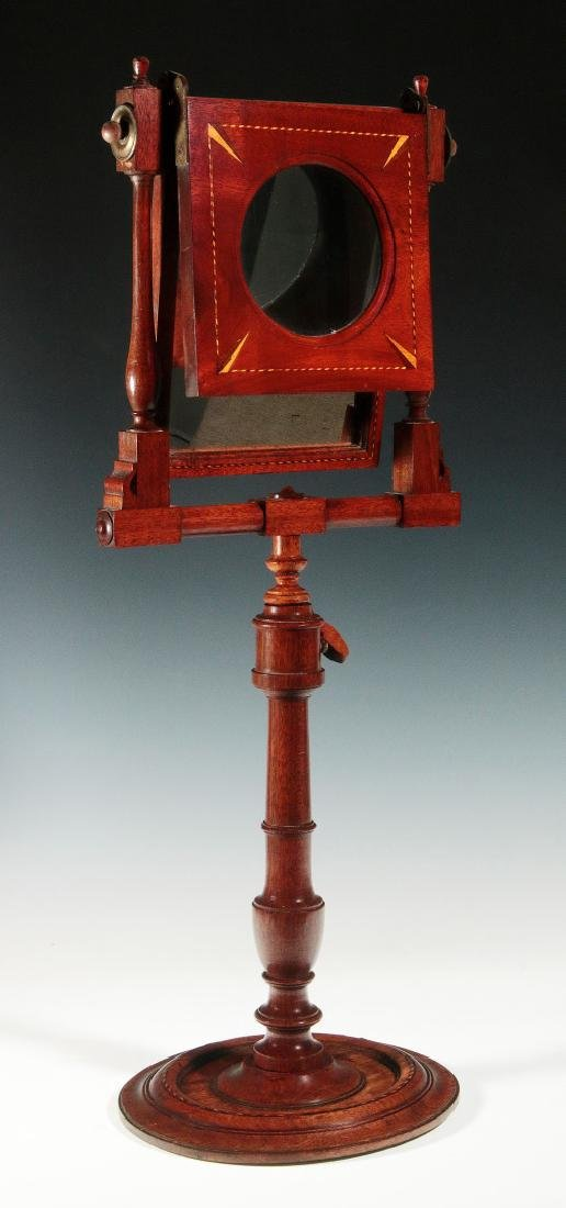 A 19THC MAHOGANY ZOGRASCOPE WITH INLAID DECORATION