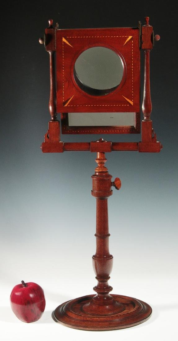 A 19THC MAHOGANY ZOGRASCOPE WITH INLAID DECORATION - 2