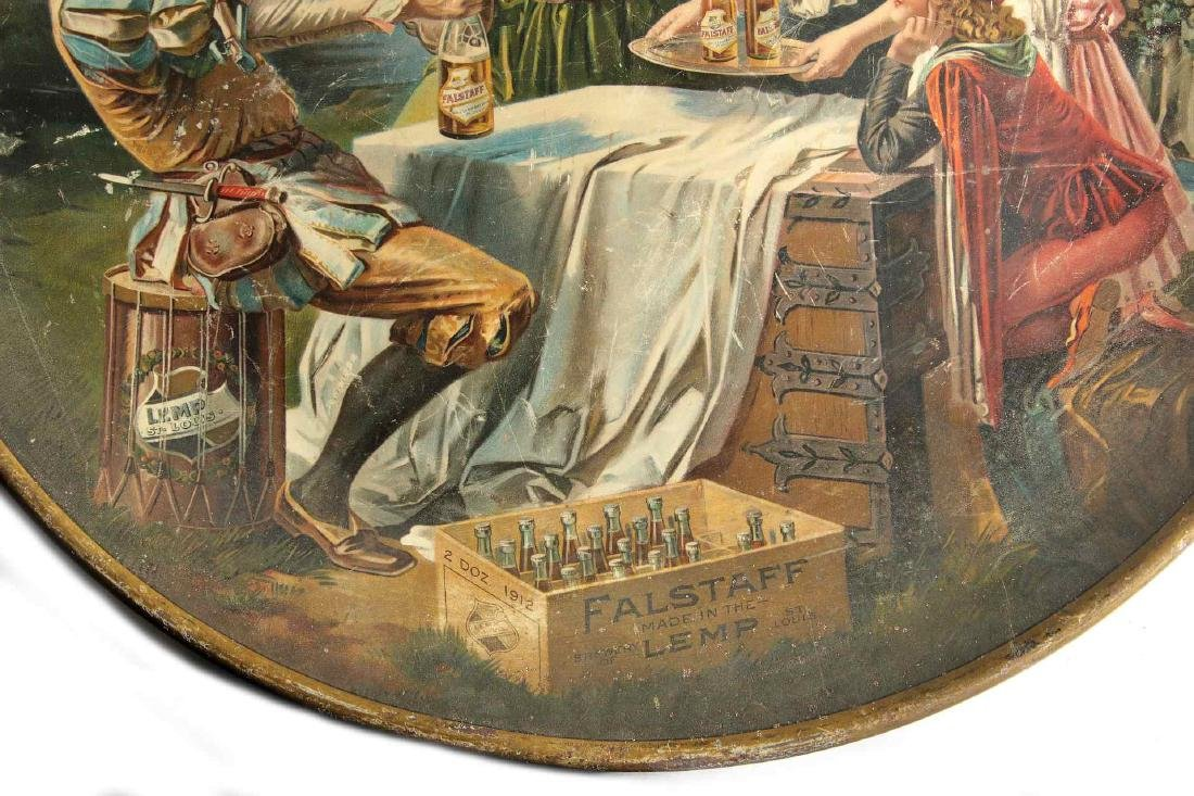 A LARGE ORIGINAL LEMP FALSTAFF TIN LITHO CHARGER - 6