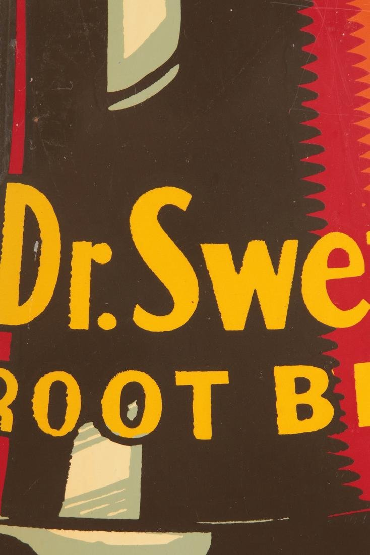 A GOOD DR. SWETTS ROOT BEER DIE CUT BOTTLE SIGN - 5