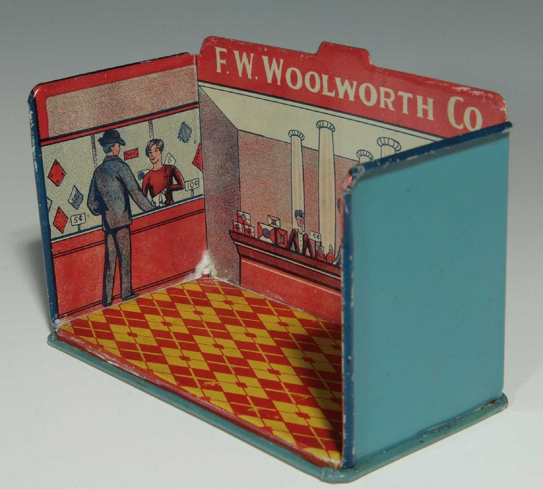 A MINIATURE TIN LITHO F.W. WOOLWORTH CO. STORE - 4