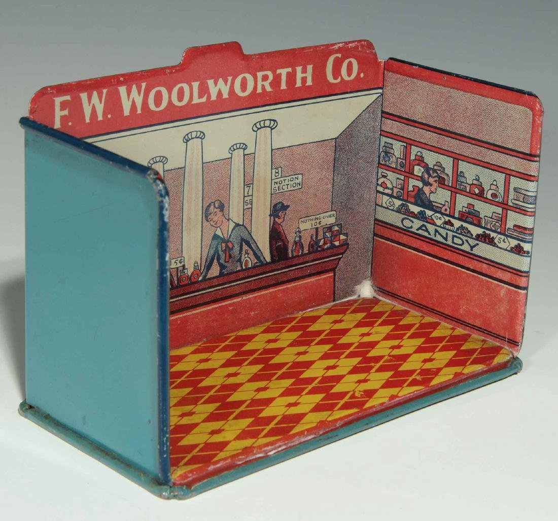 A MINIATURE TIN LITHO F.W. WOOLWORTH CO. STORE - 5