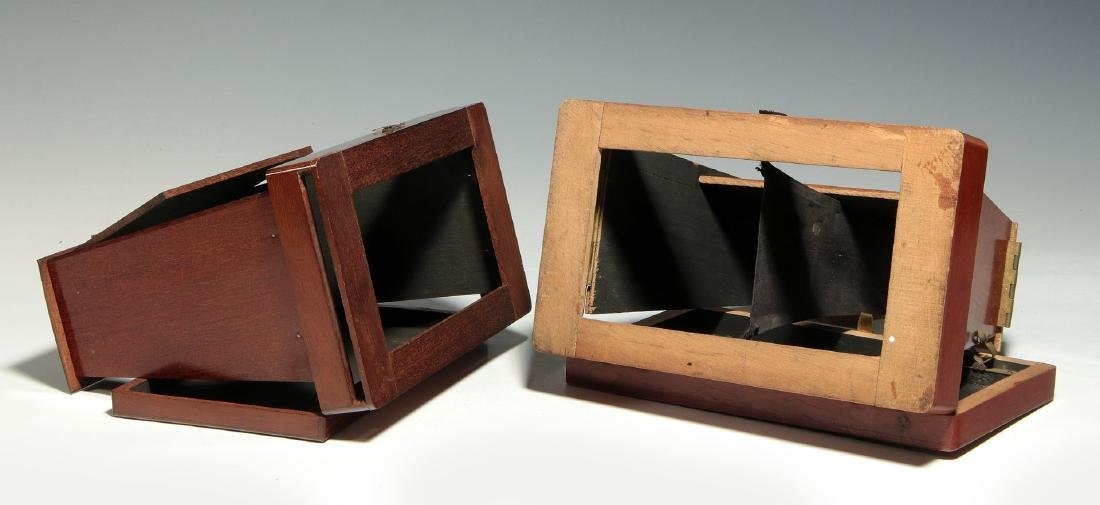 TWO 19TH C. FOLDING BREWSTER TYPE STEREOVIEWERS