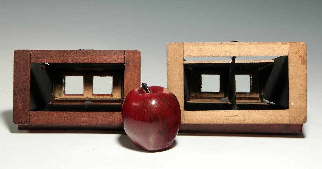 TWO 19TH C. FOLDING BREWSTER TYPE STEREOVIEWERS - 2