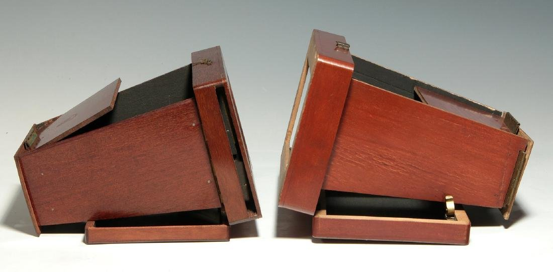 TWO 19TH C. FOLDING BREWSTER TYPE STEREOVIEWERS - 3