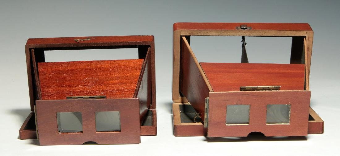 TWO 19TH C. FOLDING BREWSTER TYPE STEREOVIEWERS - 4