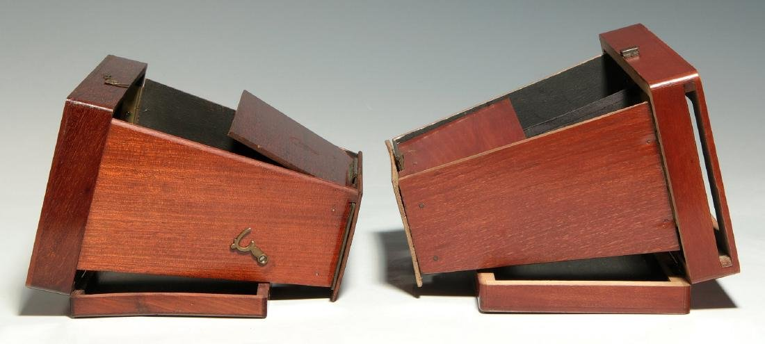 TWO 19TH C. FOLDING BREWSTER TYPE STEREOVIEWERS - 5