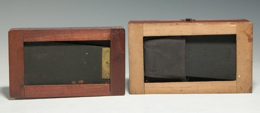 TWO 19TH C. FOLDING BREWSTER TYPE STEREOVIEWERS - 7